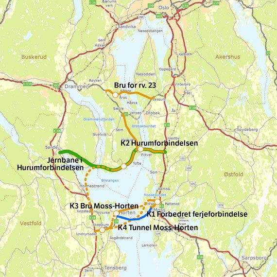 kart over oslofjorden Barrieren over Oslofjorden | Lastebil.no kart over oslofjorden