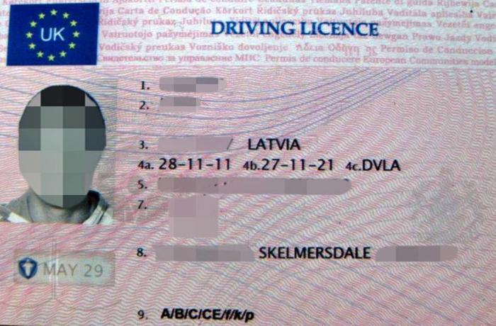 førerkort engelsk